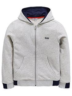 boss-boys-logo-hood-zip-through-sweat-top-light-grey