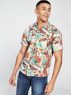 replay-hawaiian-print-shirt