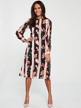 v-by-very-flower-and-stripe-midi-dress-print