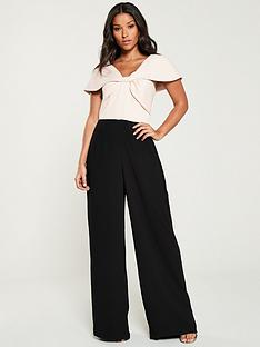 v-by-very-bow-front-contrast-wide-leg-jumpsuit-blushblack