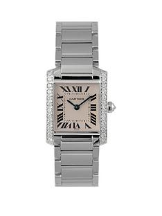 cartier-cartier-pre-owned-diamond-shoulder-tank-francaise-dial-stainless-steel-bracelet-ladies-watch-ref-2384