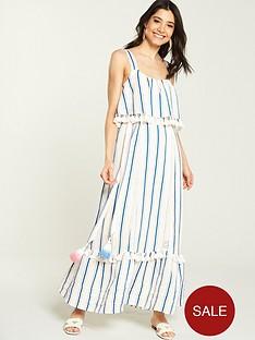 v-by-very-tie-waist-linen-maxi-dress-stripe