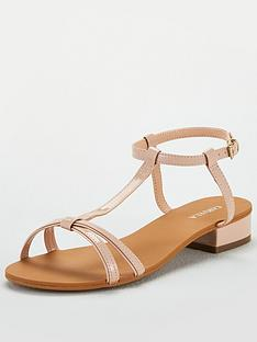 bbc0a588913 Carvela Simple H Bar Sandal Flat Sandals - Nude