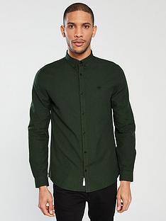 river-island-long-sleeve-khaki-grindle-oxford-shirt