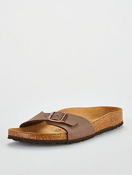 204d86cdb64c Birkenstock Narrow Fit Madrid Flat Birko-Flor® Sandal Shoes - Mocha ...