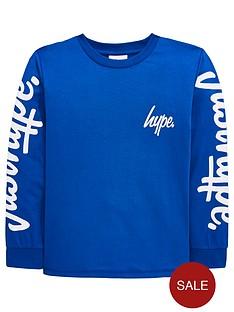 hype-boys-logo-sleeve-long-sleeve-t-shirt-blue