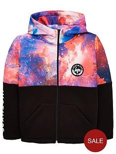 hype-boys-space-panel-zip-through-hoodienbsp--black
