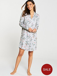 joules-verity-printed-nightshirt-grey-floral