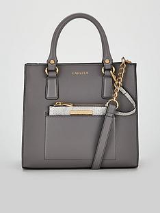 919eb81ea16 Carvela Simba Pocket Purse Tote Bag - Grey