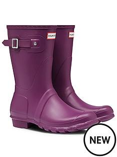 hunter-original-shortnbspwellington-boots-purple