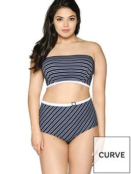 curvy-kate-sailor-girl-high-waist-brief-navywhitenbsp