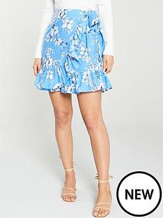 v-by-very-printed-wrap-skirt-floral-print
