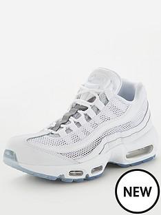 reputable site e30a4 073fd Nike Air Max 95 - White Silver