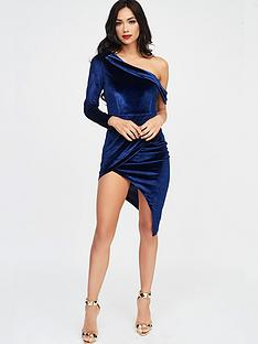 lavish-alice-velvet-one-shoulder-wrap-midi-dress-navy