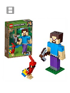 lego-minecraft-21148nbspminecrafttrade-bigfig-steve-with-parrot