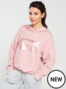 michelle-keegan-drawstring-waist-foil-slogan-hoodie-blush