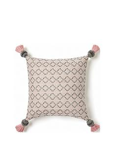 monsoon-geo-stitch-tassel-cushion