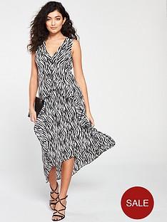 ax-paris-frill-dress--nbspzebra-printnbsp