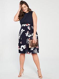 ax-paris-curve-2-in-1-printed-dress