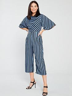 999838a2adf0 AX Paris Striped Culotte Jumpsuit - Blue