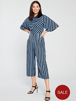 185d854a641b AX Paris Striped Culotte Jumpsuit - Blue