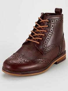 ced1679c57 Baker by Ted Baker Boys Brogue Lace Up Boot