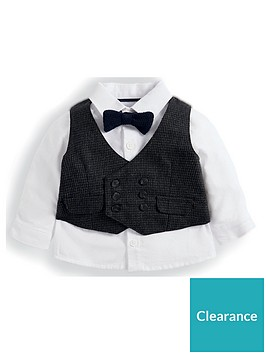 mamas-papas-baby-boys-dogtooth-waistcoat-and-shirt-set-brown