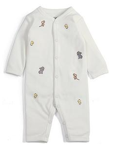 abe0d379a6bd Mamas   Papas Baby Unisex Embroidered Romper - Cream
