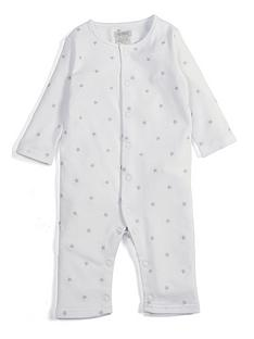 d3e90bc8a071 Mamas   Papas Unisex Star Embroidered Romper - White