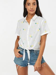 accessorize-lemon-embroiderednbspcropped-shirt-white