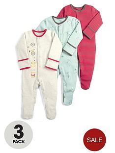 mamas-papas-baby-boys-3-pack-bike-sleepsuitsnbsp--multi