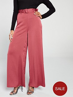 the-girl-code-wide-leg-self-belt-trouser-cranberry