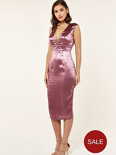 the-girl-code-satin-plunge-midi-dress-plum