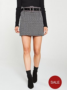 lost-ink-petite-lost-ink-petite-checked-mini-skirt-with-contrasting-belt