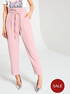 lost-ink-petite-peg-trouser-with-double-drawcord-detail-light-pink