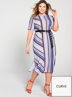 lost-ink-plus-column-stripe-midi-dress