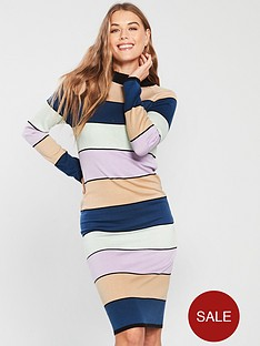lost-ink-lost-ink-stripe-column-cold-bodycon-knitted-dress