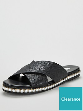 michelle-keegan-harp-stud-sole-cross-strap-sliders-black