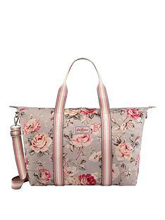 cath-kidston-foldaway-overnight-bag-garden-rose-grey