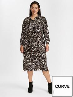 evans-midi-shirt-dress-animal-printnbsp