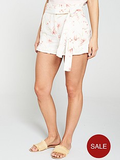 v-by-very-paper-bag-waistnbsplinen-short-floral