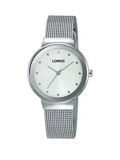 lorus-lorus-white-with-silver-and-crystal-set-dial-stainless-steel-mesh-strap-ladies-watch