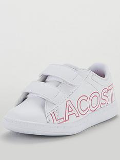 cfb3e4777 Lacoste Infant Girls Carnaby Evo 219 Strap Trainer