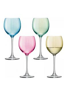 lsa-international-international-polka-wine-glasses-ndash-set-of-4