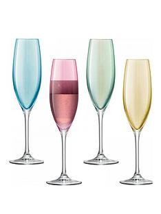 lsa-polkanbsphand-crafted-champagne-flutes-ndash-set-of-4