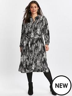 evans-zebra-stripe-shirt-midi-dress