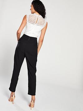 ebf5e8a6bd0 Ted Baker Kassia Lace Frill Bodice Jumpsuit - Black. View larger
