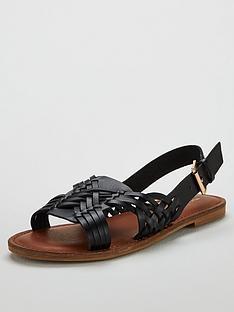 michelle-keegan-heather-huarache-slingbacknbspflat-sandals-black