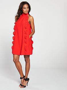 7894276b9 Ted Baker Ted Baker Torriya Halterneck Scallop Ruffle Tunic Dress