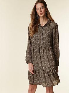 wallis-tiered-animal-shirt-dress